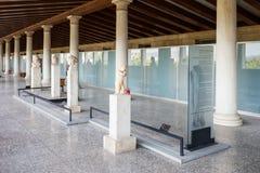 Antyczna agora Stoa Attalos Zdjęcia Royalty Free