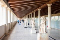 Antyczna agora Stoa Attalos Obrazy Stock