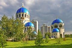 Antyczny ortodoksyjny churh. Moskwa. Rosja. zdjęcie stock