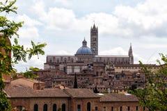 Antyczna architektura w mieście Siena Zdjęcie Royalty Free