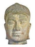 antyczna artefakta głowy kamienia pogoda być ubranym Fotografia Royalty Free