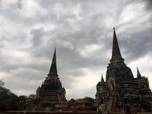 Antyczna Ayutthaya świątynia Zdjęcia Royalty Free