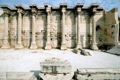 Antyczna biblioteka Hadrian, Ateny, Grecja Zdjęcia Royalty Free