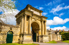 Antyczna brama w Woodstock, Oxfordshire zdjęcie royalty free