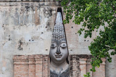 Antyczna Buddha statua, Sukhothai Dziejowy park Obraz Royalty Free