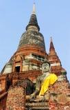 Antyczna Buddha statua w ?wi?tynnym Wacie Phra Sri Sanphet ayutthaya Thailand zdjęcia stock