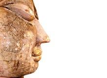 antyczna Buddha zakończenia twarzy statua Thailand antyczny Obrazy Royalty Free