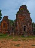 Antyczna buddyjska khmer świątynia zdjęcia royalty free