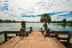 Antyczna buddyjska khmer świątynia zdjęcia stock