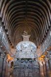 Antyczna buddyjska stupa w Ajanta zawala się, India Fotografia Royalty Free