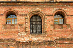 Antyczna ceglana fasada, Krutitskoe domostwo Obraz Stock