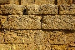 Antyczna ceglana kamiennej ściany tekstura Dla tło projekta obrazy stock