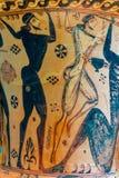 Antyczna ceramiczna sztuka Pogrzebowa attyk amfora zdjęcia royalty free