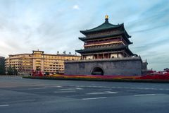 Antyczna Chińska Świątynna architektura Iluminujący miasto festiwalu Ce obrazy stock