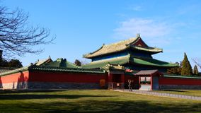Antyczna Chińska architecture— — świątynia Niebiański rzeź pawilon zdjęcie royalty free