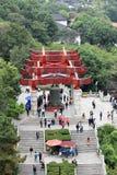 Antyczna Chińska architektura: Żółta dźwigowa świątynia zdjęcia stock