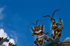 Antyczna Chińska Buddyjska świątynia, Bangkok Tajlandia fotografia royalty free