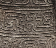 Antyczna Chińska ceramiczna tekstura, smok. Obrazy Stock