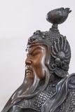 Antyczna Chińska generał głowy rzeźba zdjęcie royalty free