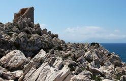 Antyczna costal wieża obserwacyjna, tło Obrazy Stock