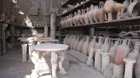 Antyczna cywilizaci Pompeii relikwia w Włochy Zdjęcia Stock