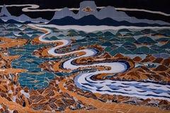 Antyczna dekoracyjna mozaika od dachówkowych czerepów Zdjęcia Royalty Free