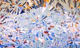 Antyczna dekoracyjna mozaika od dachówkowych czerepów Zdjęcie Royalty Free