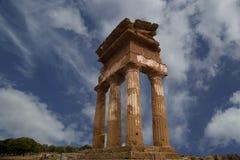 antyczna dioscuri grka świątynia Fotografia Royalty Free