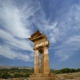 antyczna dioscuri grka świątynia Zdjęcia Stock