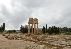 antyczna dioscuri grka świątynia Obrazy Stock