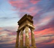 antyczna dioscuri grka świątynia Obraz Royalty Free