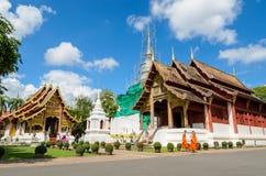 Antyczna drewniana świątynia Wat Phra Singh w Chiang Mai, Tajlandia Zdjęcie Royalty Free
