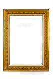Antyczna drewniana fotografii rama odizolowywająca na białym tle Fotografia Stock