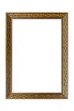 Antyczna drewniana fotografii rama odizolowywająca na białym tle Obrazy Royalty Free