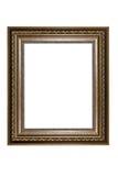Antyczna drewniana fotografii rama odizolowywająca na bielu Zdjęcia Stock