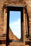 antyczna drzwiowa świątynia Obrazy Royalty Free