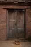 antyczna drzwiowa świątynia Zdjęcia Royalty Free