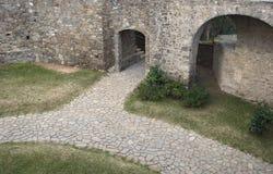 Antyczna drzwiowa wioska Agropoli Zdjęcie Stock