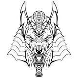 Antyczna egipska bóg Anubis głowy ilustracja Obraz Royalty Free