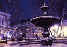 Antyczna fontanna w parku blisko golden gate w Kijów Obraz Stock