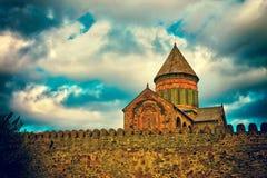 Antyczna forteczna Svetitskhoveli katedra w Mtskheta Fotografia Royalty Free