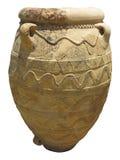 Antyczna gliniana Minoan amfora w Crete, Grecja Zdjęcia Stock