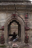 Antyczna Hinduska bogini świątynia Nepal Zdjęcia Royalty Free