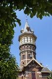 Antyczna holenderska wieża ciśnień w Schoonhoven Obraz Stock
