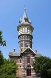 Antyczna holenderska wieża ciśnień w Schoonhoven Zdjęcia Royalty Free