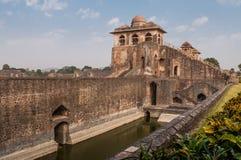 Antyczna Indiańska świątynia, stare forteca ruiny Obrazy Royalty Free