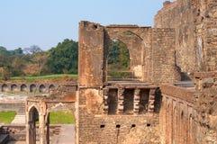 Antyczna Indiańska świątynia, stare forteca ruiny Zdjęcia Royalty Free