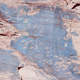 Antyczna indianin skały sztuka, także nazwany Petroglif Obrazy Stock