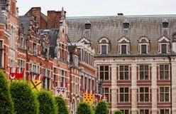 antyczna jaskrawy budynku flaga ściana obrazy stock