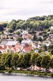 Antyczna Jeziorna Europejska wioska Zdjęcie Stock